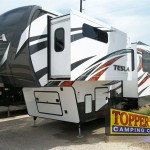 Evergreen Tesla 3950 Fifth Wheel Toy Hauler Exterior