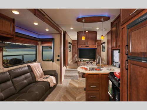 Vengeance 422V12 Toy Hauler Fifth Wheel Interior