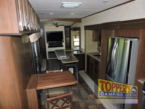 Sandpiper 369KBAR Fifth Wheel Kitchen