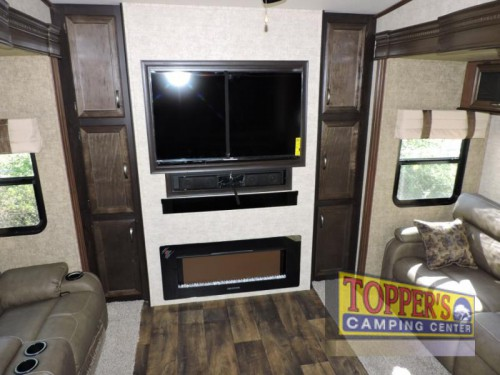 Sandpiper 369KBAR Fifth Wheel Living Room