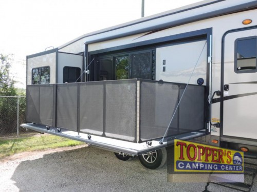 Sandpiper 369KBAR Fifth Wheel Patio Deck