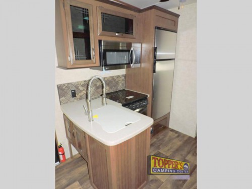 Forest River Sandpiper HT 3350BH Fifth Wheel Kitchen