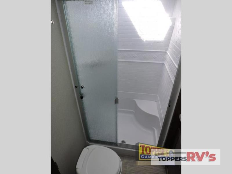 bathroom in 2019 Prime Time RV Crusader LITE 29RS