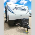 The Eclipse Attitude Metal Toy Hauler travel trailer.
