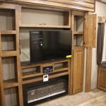 Entertainment center with storage.