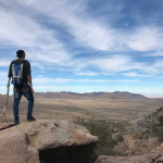 man hiking in new mexico