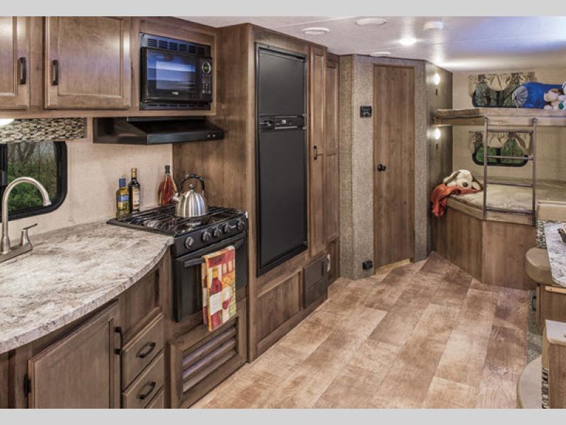 KZ Connect travel trailer kitchen