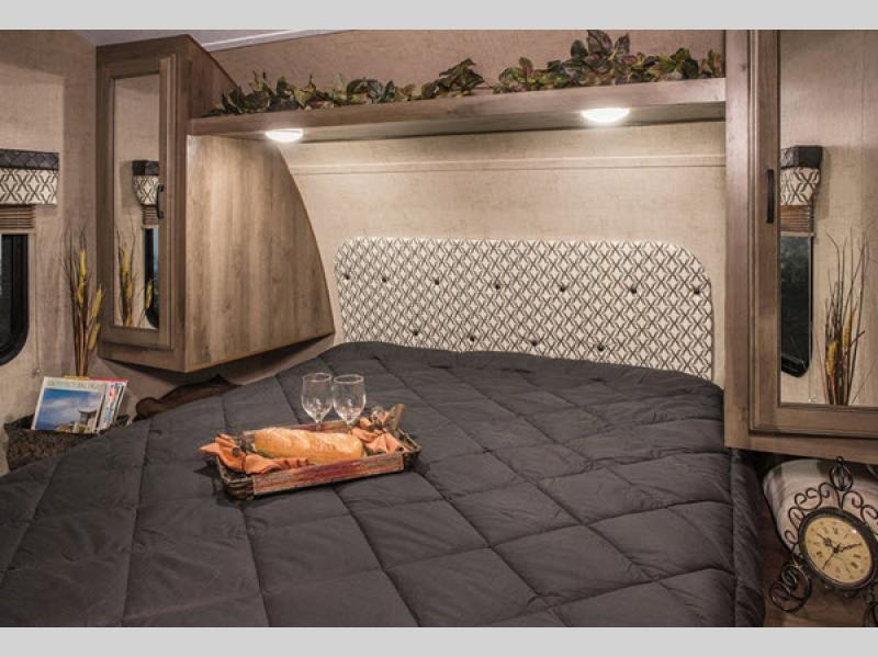 KZ Connect travel trailer Master Bedroom