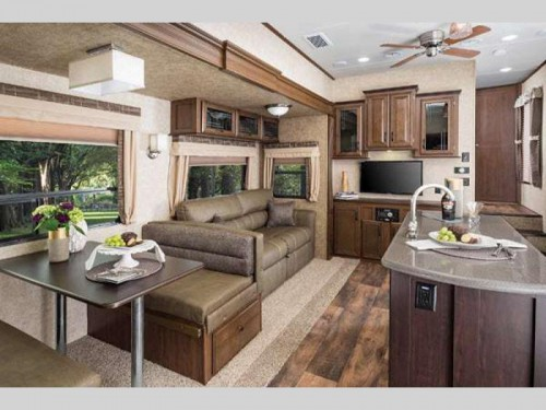 Forest River Sierra Select Fifth Wheel Living Room