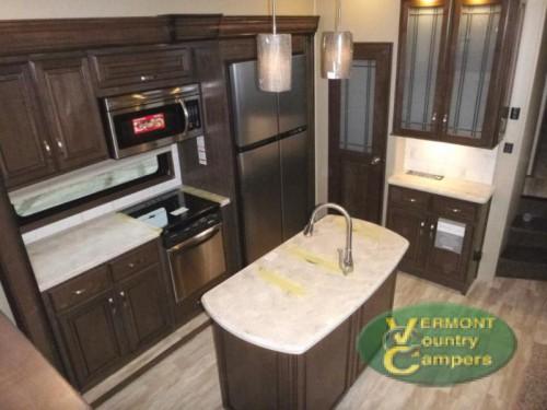 Grand Design Solitude fifth wheel kitchen