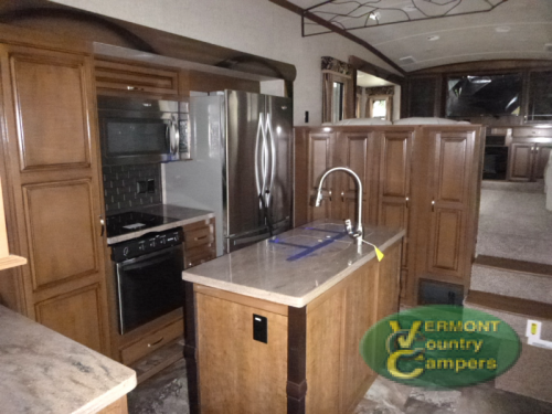 Cedar Creek Hathaway Edition fifth wheel kitchen