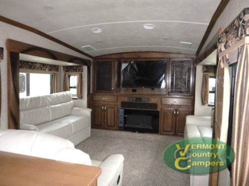Cedar Creek Hathaway Edition fifth wheel Living Room