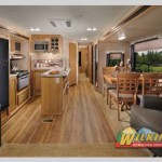 Interior Catalina travel trailer