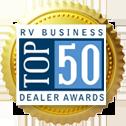 Wilkins RV Top 50 Dealer Badge