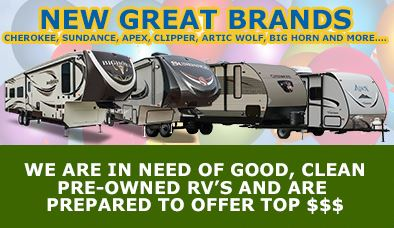 Grand Opening Wilkins RV New brands