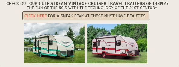Wilkins RV Vintage Camper Show Gulf Stream Vintage Cruiser