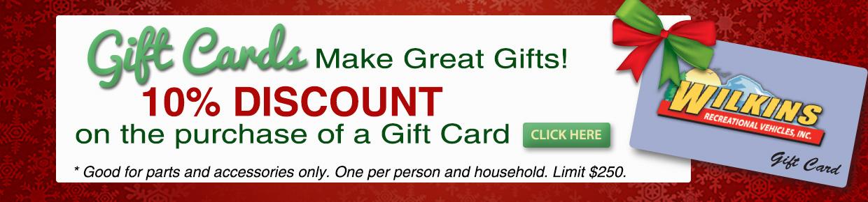 Wilkins RV Gift Card