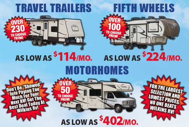 Wilkins RV No Show Sale Low Monthly Payments