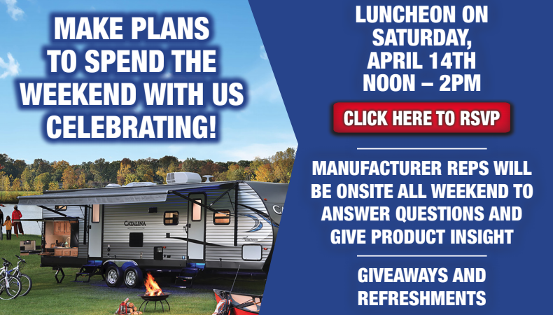 Wilkins RV Sales Event Free Lunch April 2018