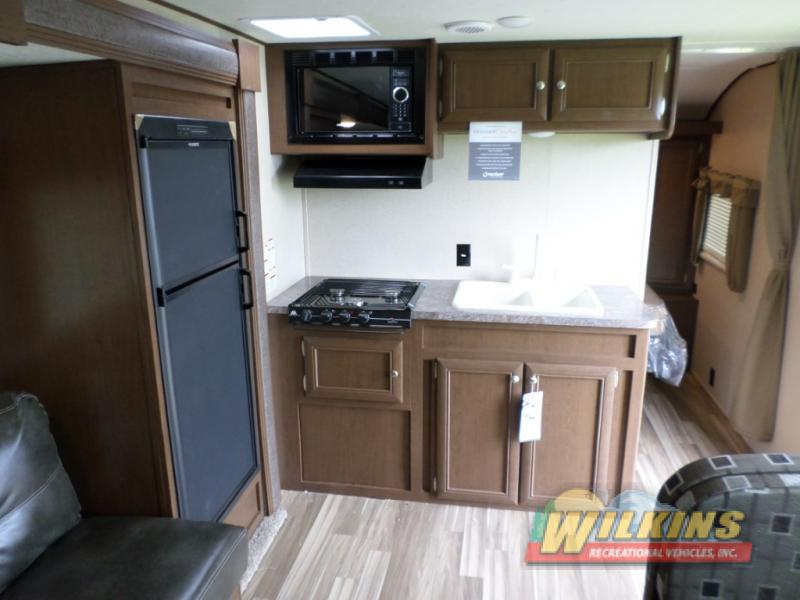 Shasta Oasis Travel Trailer Kitchen