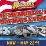Wilkins RV Memorial Day Sale