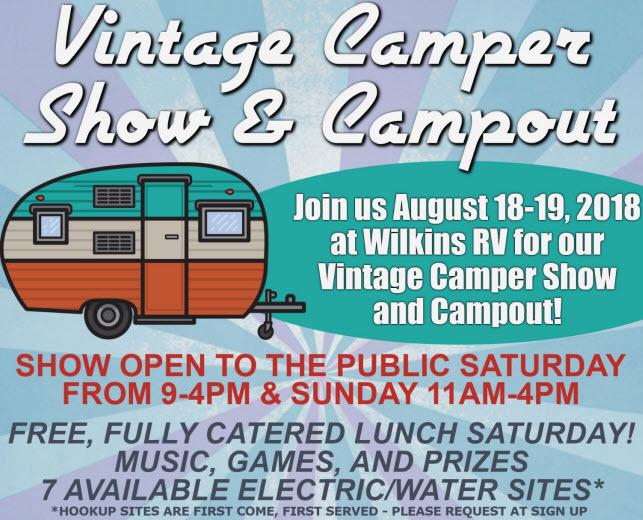 Vintage Camper RV Show Wilkins RV Churchville, NY