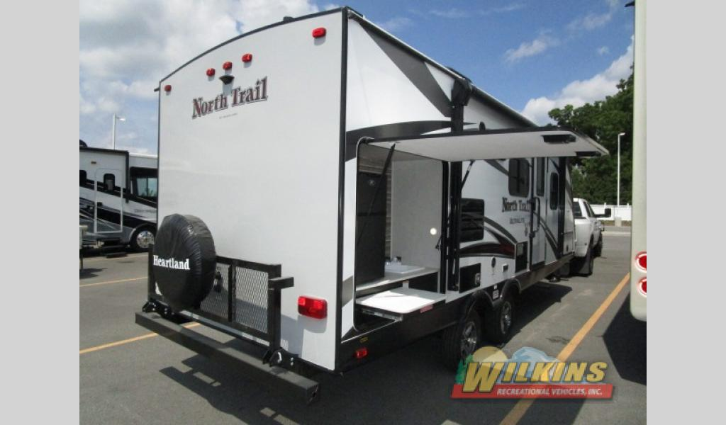 Heartland North Trail Travel Trailers New RV Brands Victor, NY RV Dealer Outside Kitchen