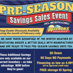 Pre-Season RV Sale Wilkins RV