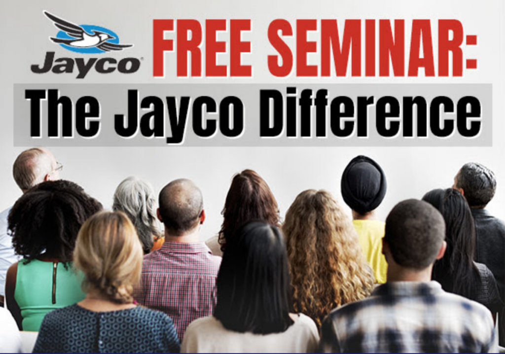 Wilkins RV The Jayco Difference Free Seminar