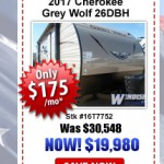 Windish RV Grey Wolf 26DBH on sale