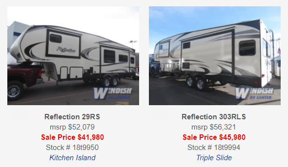 Grand Design Reflection Travel Trailers and Fifth Wheels Sale 2