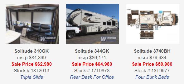 Grand Design Solitude Fifth Wheels Sale