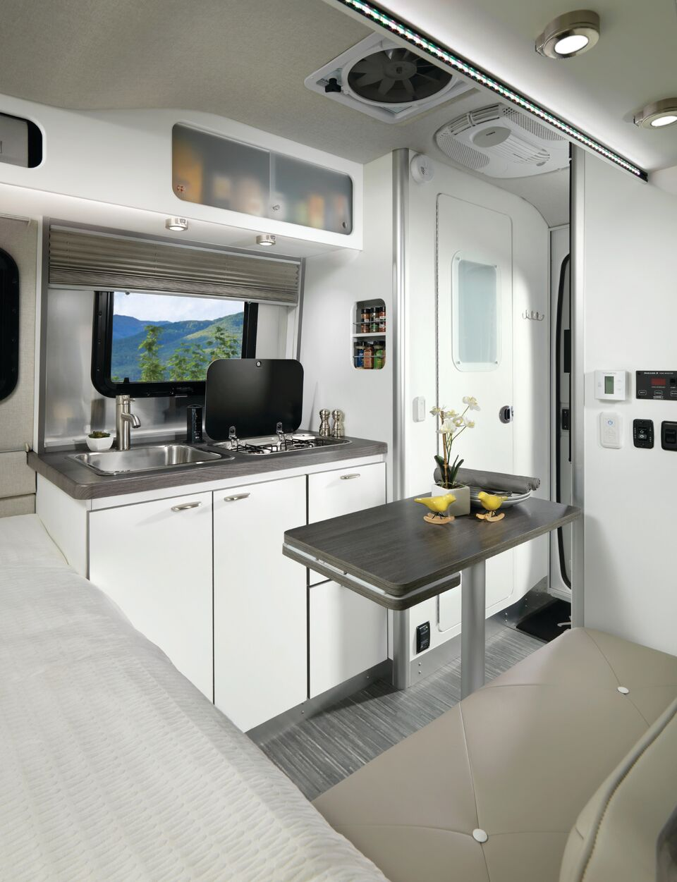 Windish RV Airstream Nest Travel Trailer Kitchen