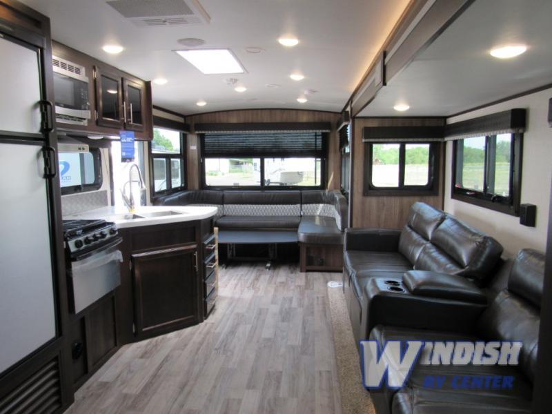 Jayco White Hawk Travel Trailer Interior Rear Dinette