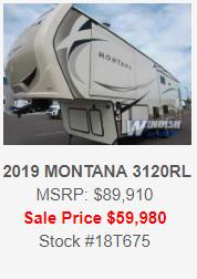 Windish RV One Year Anniversary Sale Colorado Springs RV 2019 Montana Fifth Wheel