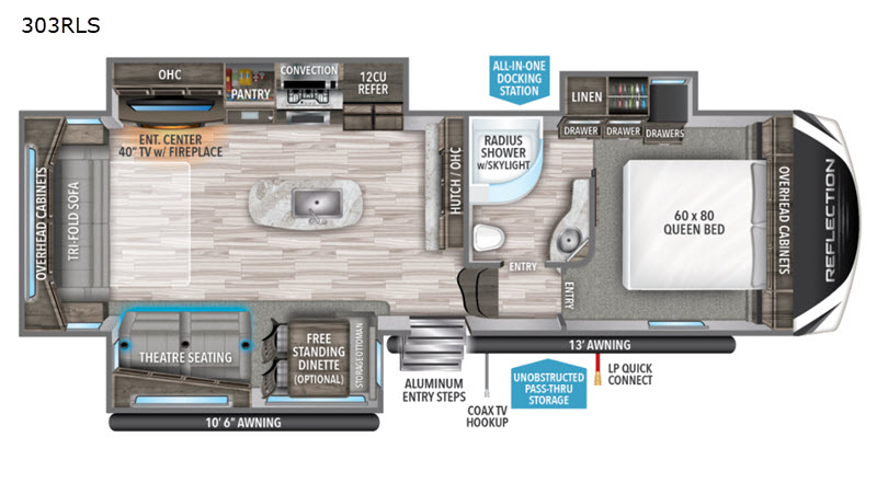 Grand Design Reflection floorplan