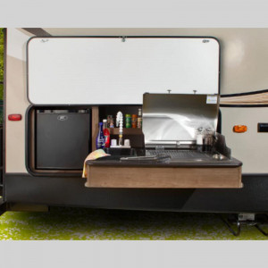 Cougar Half Ton Series Travel Trailer Outdoor Kitchen