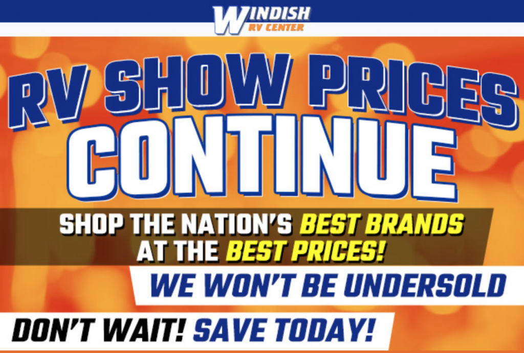 Windish RV Show Prices Continue Banner