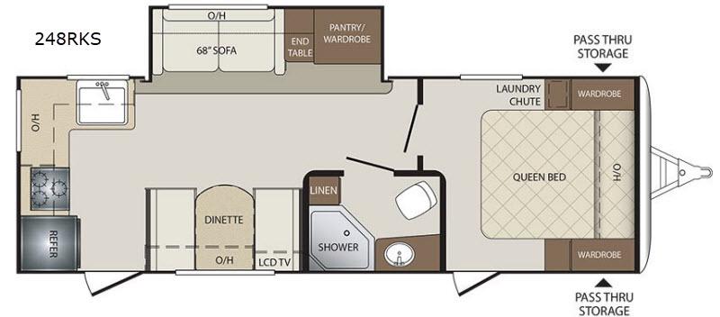 Keystone Bullet 248RKS Floor Plan