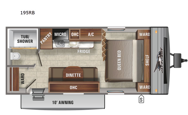 NEW 2021 Jayco Jay Flight SLX 7 195RB Floor Plan